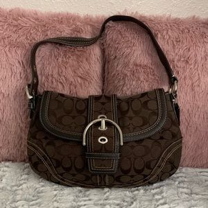 Coach Signature Soho Buckle Flap Hobo